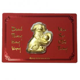 Lì Xì Khuyển Vàng - Quà tặng mỹ nghệ Kim Bảo Phúc phủ vàng 24k DOJI