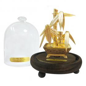 Kim trúc bình an - quà tặng mỹ nghệ Kim Bảo Phúc phủ vàng 24K DOJI