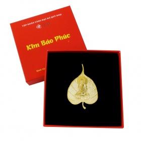 Quà tặng mỹ nghệ KBP DOJI Cài áo phật hình lá bồ đề DJDE0605HHBD
