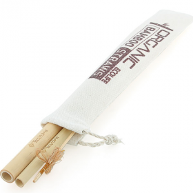 Bộ ống hút tre- túi nhỏ ECOLIFE - Bamboo Straw Small