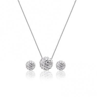 Bộ trang sức bạc Snowball - Eropi Jewelry