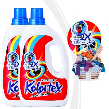 Bộ 2 chai nước giặt KOLORTEX® chống lem màu (1 lít/chai)