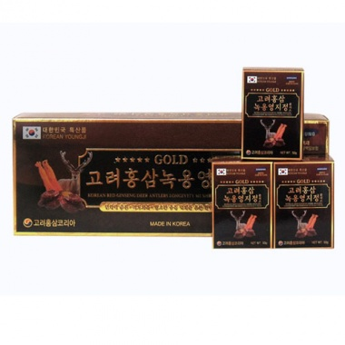 Cao hồng sâm - linh chi - nhung hươu Hàn Quốc hũ 50g X3