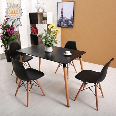 Bộ bàn Veron đen 4 ghế  - IBIE