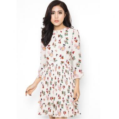 Váy hoa xếp ly hai tầng - Mimi