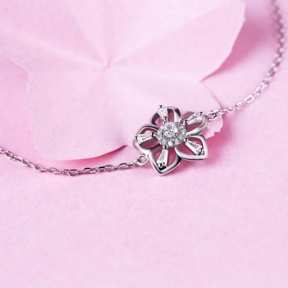Lắc tay bạc Sakura Love