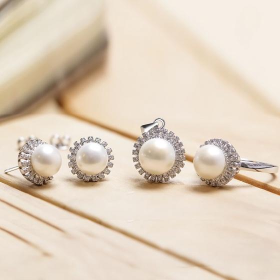 Bộ trang sức bạc Sunlight Pearl
