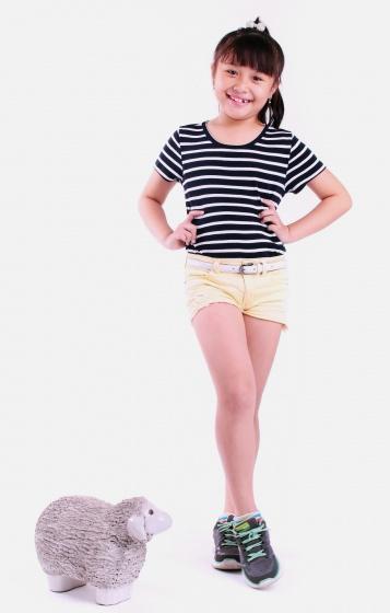 Áo thun bé gái sọc ngang - UKID55