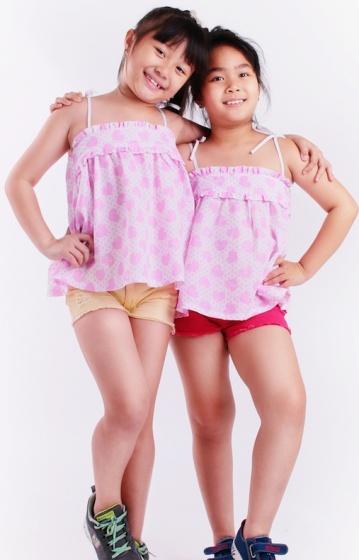 Áo kiểu bé gái cột dây - UKID62