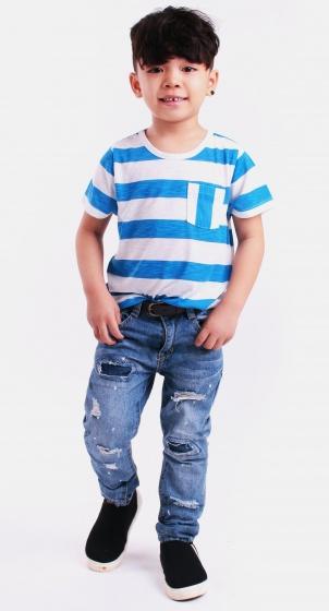 Áo thun bé trai sọc ngang - UKID58