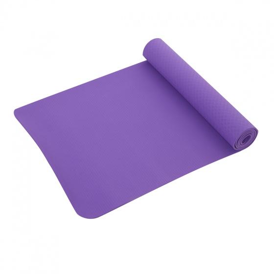 Thảm tập yoga cao cấp TPE với loga dập nổi Mofit ( màu tím)
