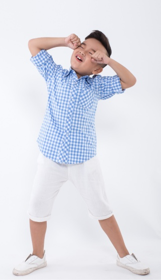 UKID157 - Á o sơ mi bé trai(xanh dương)