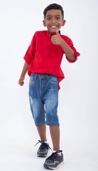 UKID158 - Quần shorts jeans ( xanh nhạt)