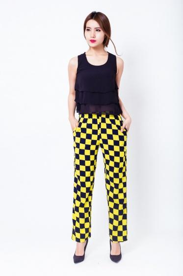 Bộ set quần áo ô vuông trẻ trung