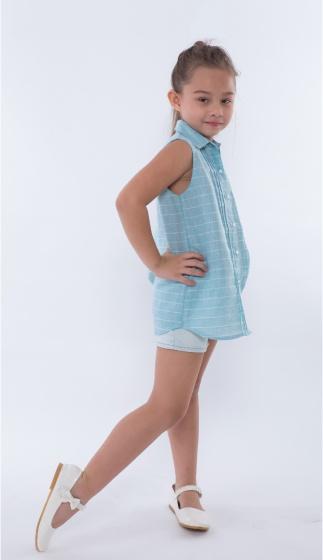 Áo kiểu bé gái Ugether UKID164 (Sọc đính nơ)
