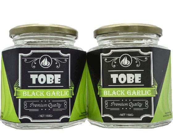 Tỏi đen cô đơn TOBE- Combo 2 hũ 150 gram (nguyên vỏ) [QC-Vneshop]