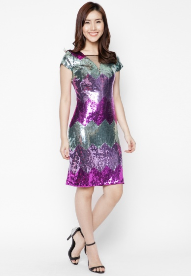 Đầm kim sa dạ tiệc cao cấp - HK 383