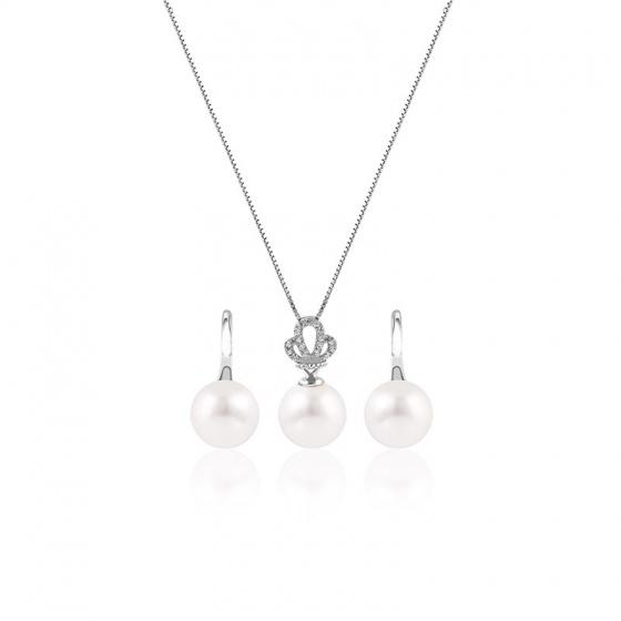 Bộ trang sức bạc Queen Pearl - Eropi Jewelry