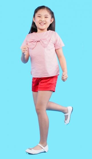 UKID130-Áo kiểu bé gái có nơ