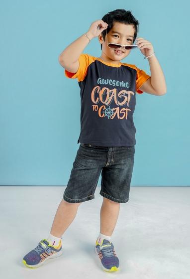 UKID108 - áo thun bé trai (xanh đen)