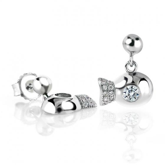 Bông tai bạc Happy Fish - Eropi Jewelry