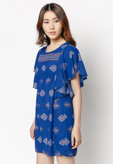 Đầm oversize tay cánh dơi HK 529