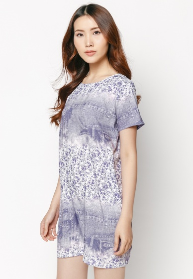 Đầm suông họa tiết HK 532