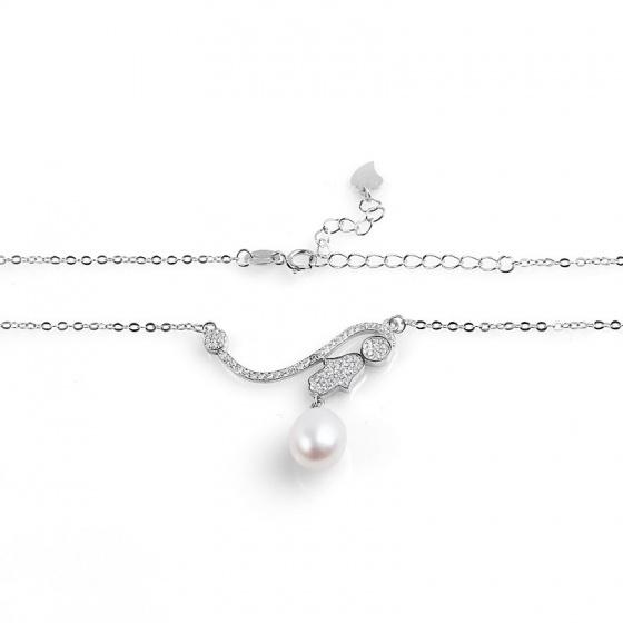 Dây chuyền bạc Girl and Pearl - Eropi Jewelry