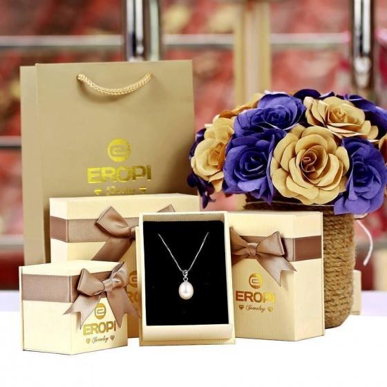 Dây chuyền bạc Pearl Cross - Eropi Jewelry