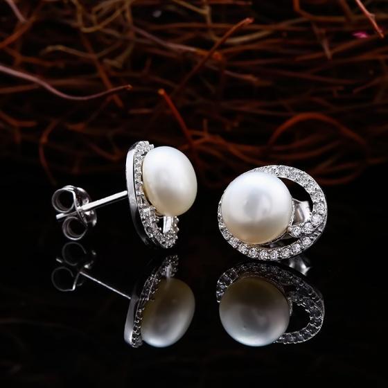 Bộ trang sức bạc ngọc trai Eudora Love - Eropi Jewelry