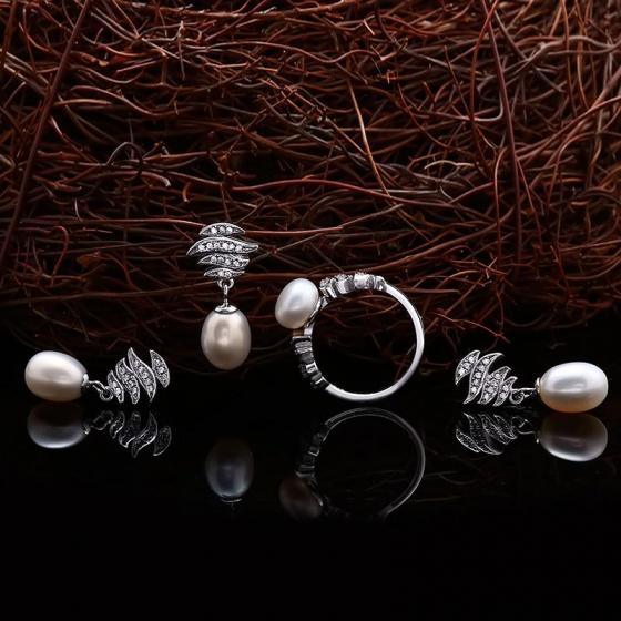 Bộ trang sức bạc ngọc trai Esperanza - Eropi Jewelry