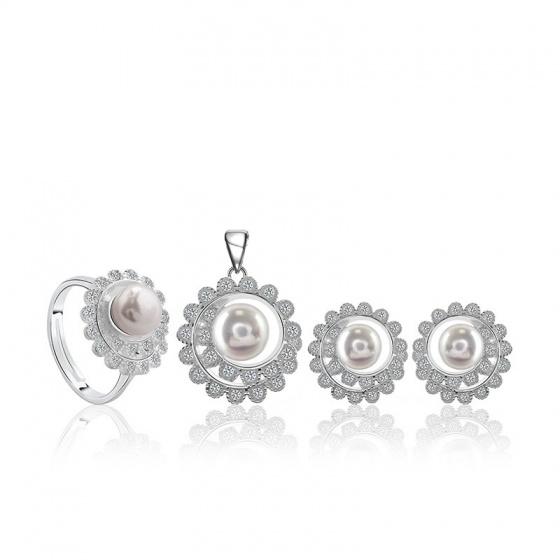 EROPI-Bộ trang sức bạc ngọc trai Sunny