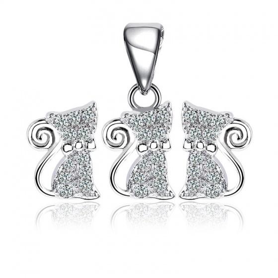 Bộ trang sức bạc The Cat - Eropi Jewelry