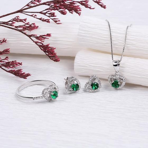 Bộ trang sức bạc Letitia Love - Eropi Jewelry