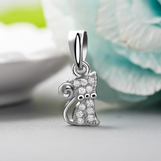 Mặt dây chuyền bạc Lovely Cat - Eropi Jewelry