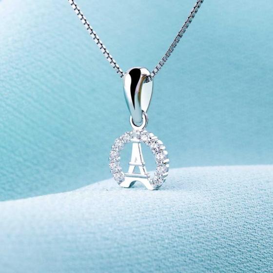 Mặt dây chuyền bạc Tower Love - Eropi Jewelry