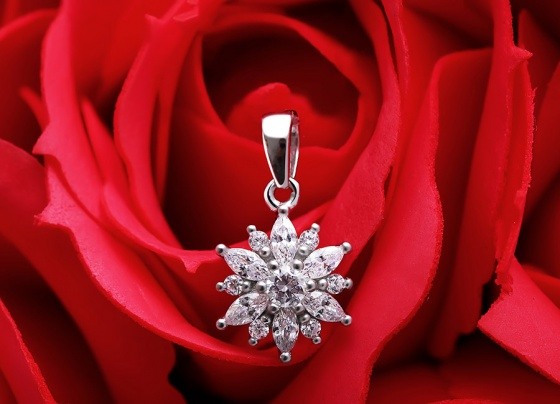 Mặt dây chuyền bạc The Best Flower - Eropi Jewelry