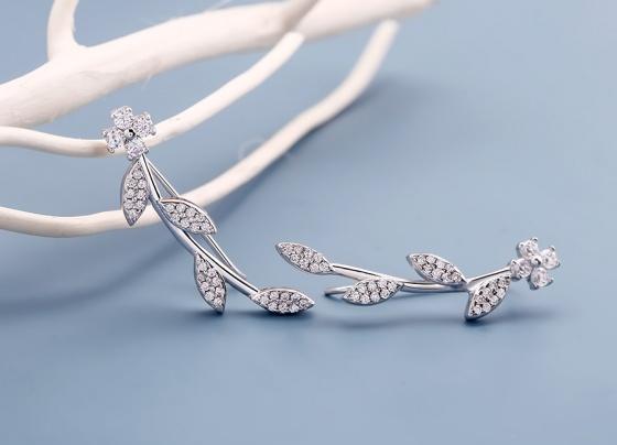 Bông tai bạc Theophilia - Eropi Jewelry