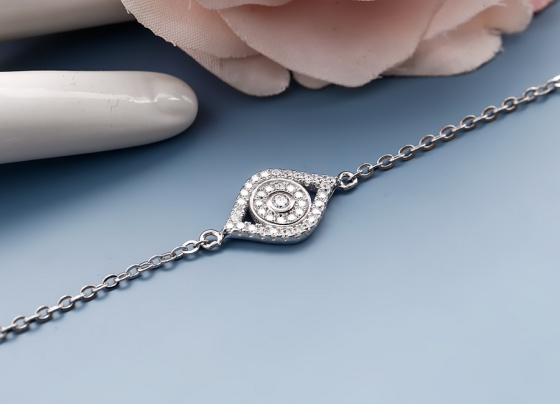 Lắc tay bạc Jella Love - Eropi Jewelry