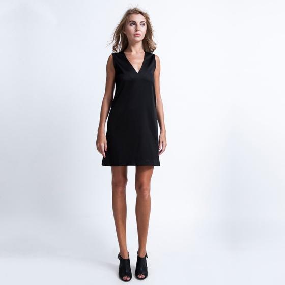 Đầm suông form rộng DRE016 (đen noir)