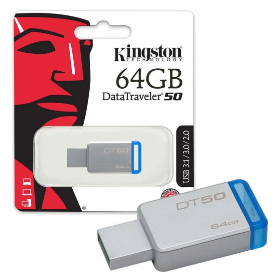 USB Kingston 64GB USB 3.0 DT50_DT50/64GBFR