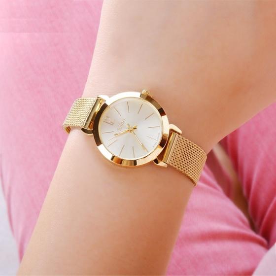 Đồng hồ nữ Julius thép không gỉ JU970 (Vàng)