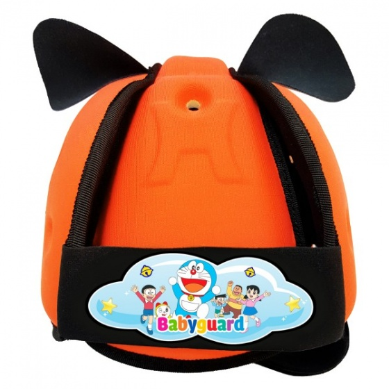 Nón bảo vệ đầu cho bé Babyguard - logo Doraemon 2 cam