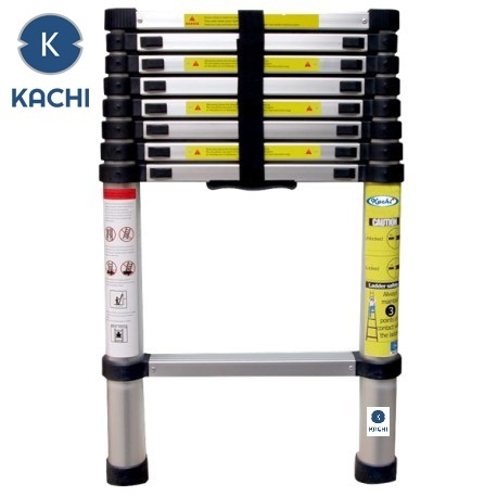 Thang nhôm rút gọn 3,8M Kachi (bạc)