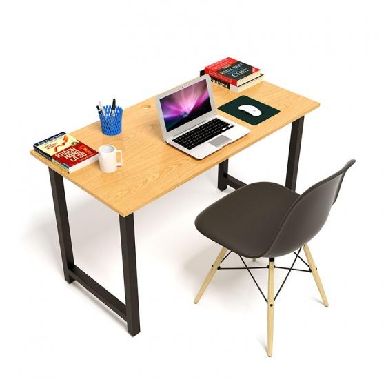 Bộ bàn Oak-T vân gỗ sồi chân đen gấp gọn và ghế Eames chân gỗ đen