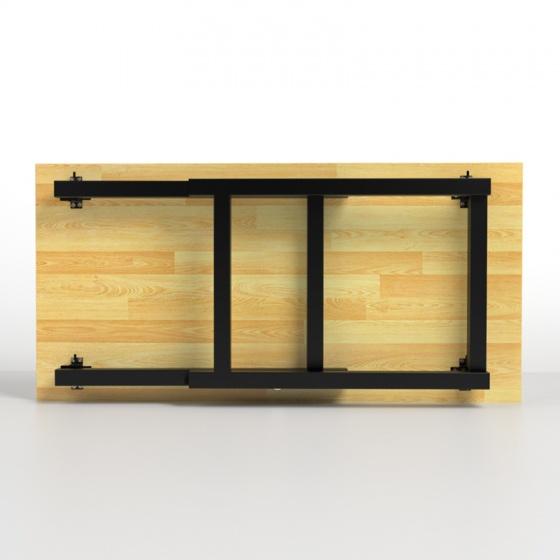 Bàn Rec-T gấp gọn gỗ cao su  - IBIE