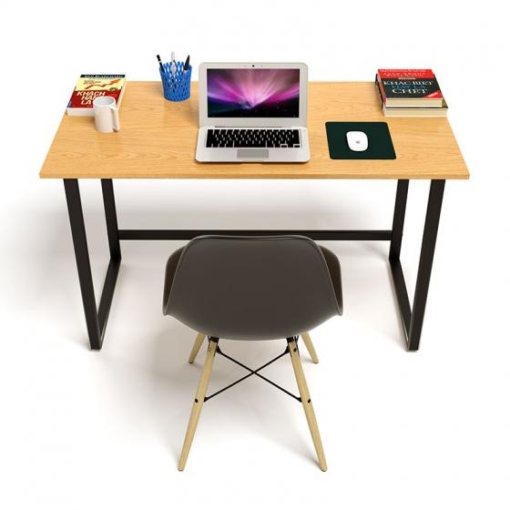 Bộ bàn Oak-F vân gỗ sồi chân đen và ghế Eames chân gỗ đen - IBIE