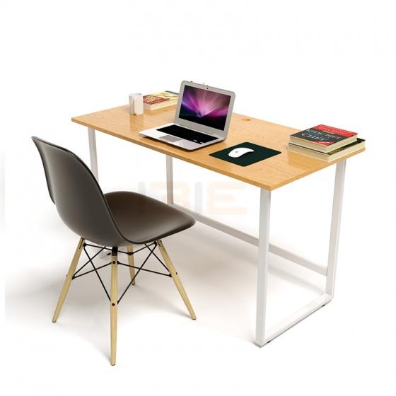 Bộ bàn Oak-F vân gỗ sồi chân trắng và ghế Eames chân gỗ đen - IBIE