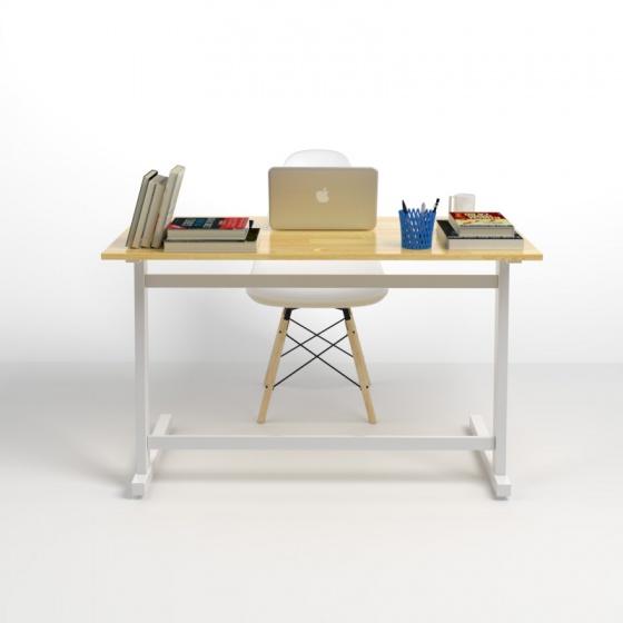 Bộ bàn Rec-Z trắng 1m2 gỗ cao su và ghế Eames trắng - IBIE