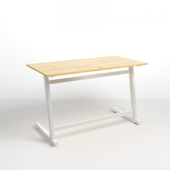 Bộ bàn Rec-Z trắng 1m2 gỗ cao su và ghế Eames đen - IBIE
